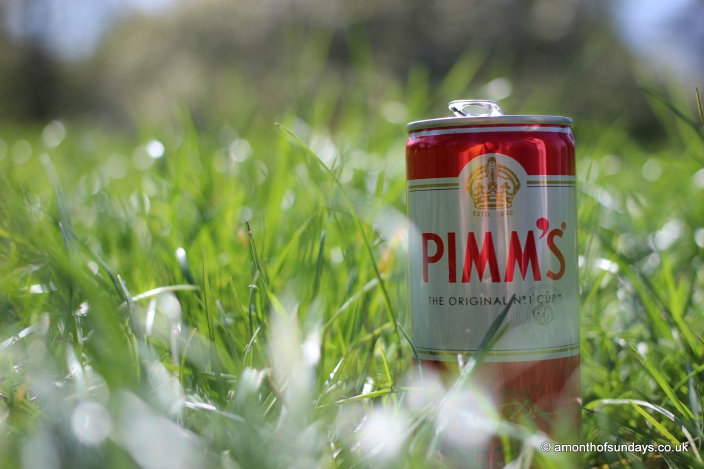 Pimms in the grass