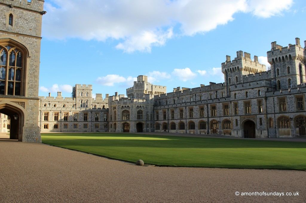 Windsor Castle courtyard