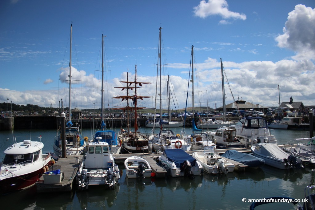 Padstow harbour by day