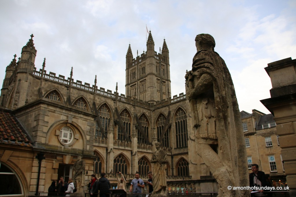 Roman emperor overlooking Bath Abbey