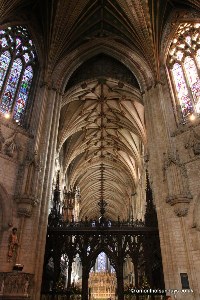View into Ely cathedral quire