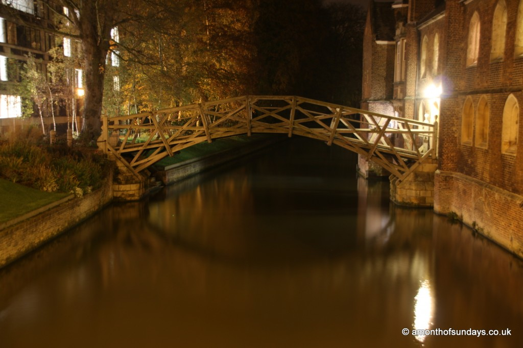 Mathematicians Bridge at night