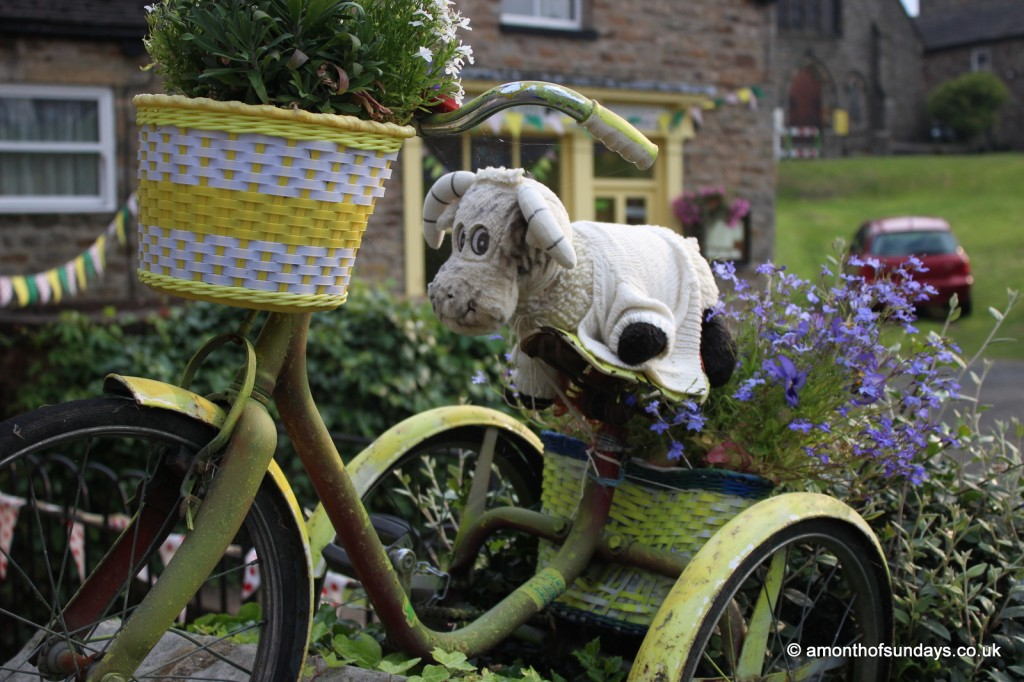 Tour de France sheep in Reeth