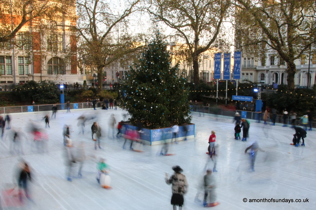 NHM ice rink by day
