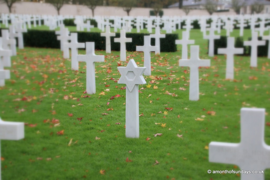 Jewish cross at American War Cemetary in Cambridge