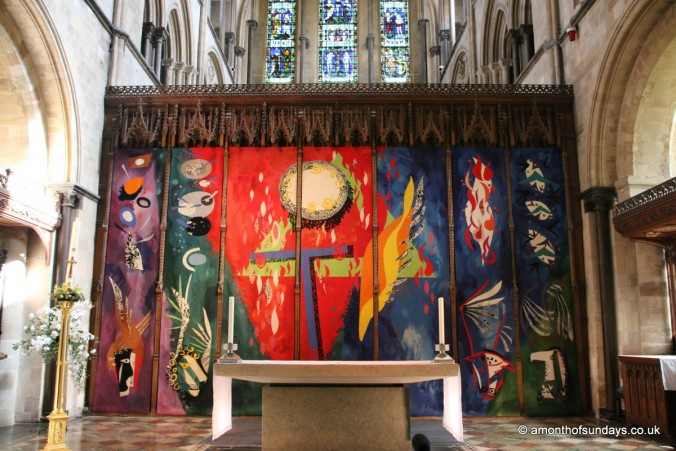 Main altar at Chichester cathedral