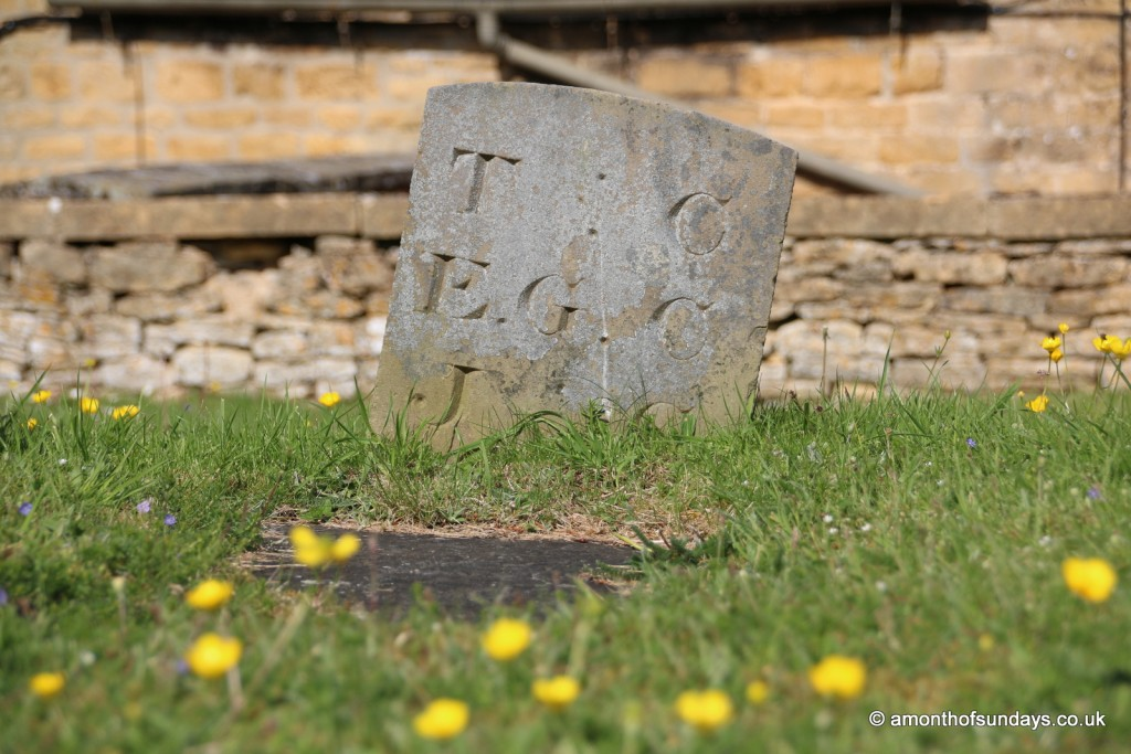 Gravestone at Upper Slaughter church