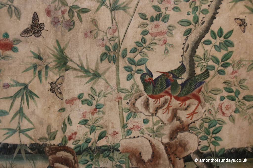 Painted wallpaper at Nostell Priory