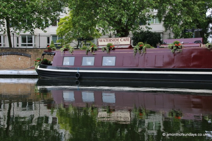 Cafe boat in Little Venice
