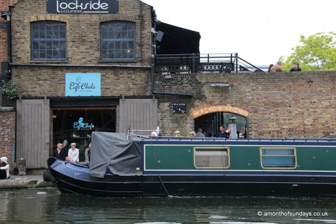 Boat passing through Camden lock