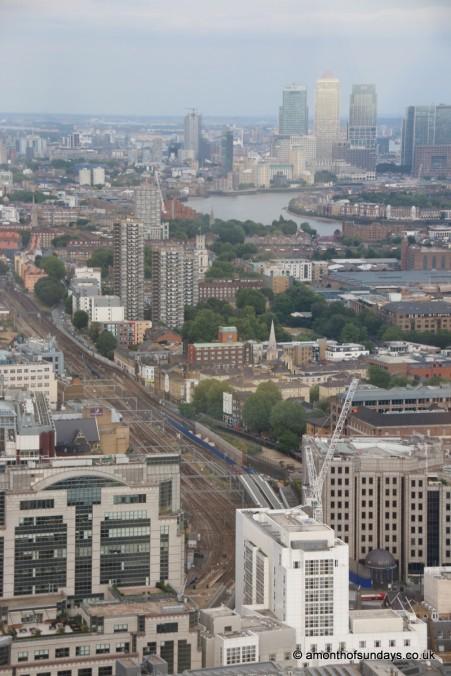 Train tracks running through London