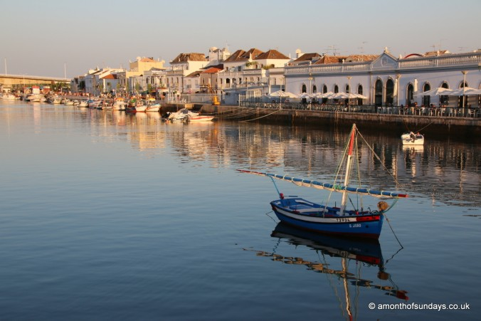 Looking over towards the food market in Tavira