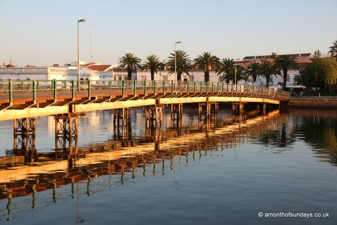The temporary bridge in Tavira