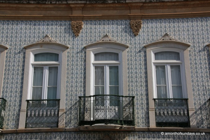 Tiled building in Tavira