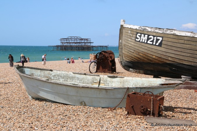 Old fishing boats in Brighton