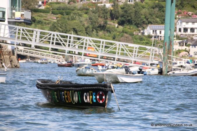 Lifebuoy Cafe boat in Fowey