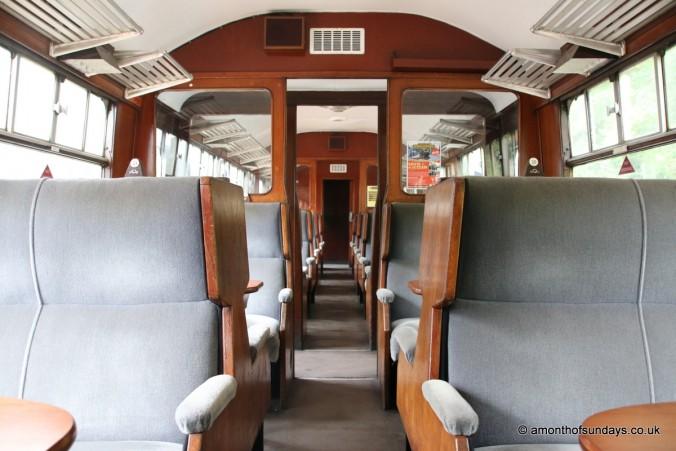 Inside railway carriage
