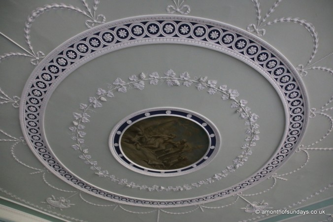 Ceiling in entrance hall at Kenwood House