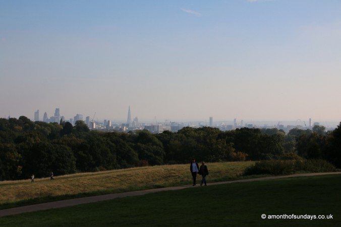 View across London from Hampstead Heath