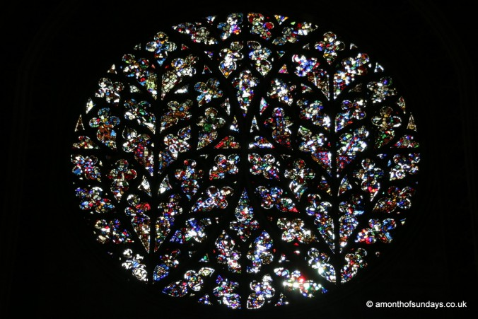 Rose window at Lincoln Cathedral