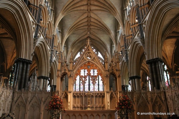 High altar at Lincoln Cathedral