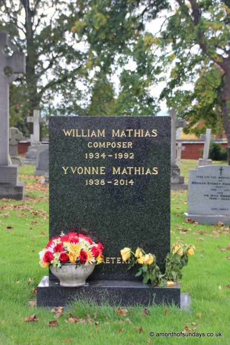 Mathias' grave at St. Asaph's Cathedral
