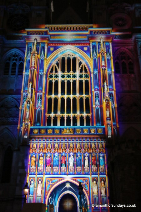 Lumiere at Westminster Abbey