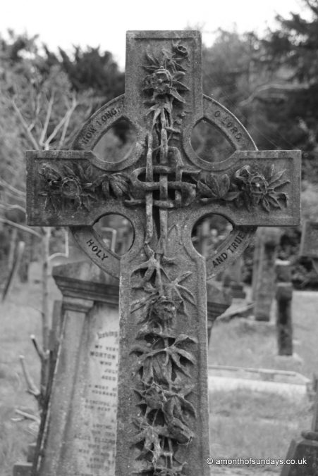 Cross at Hampstead Cemetery