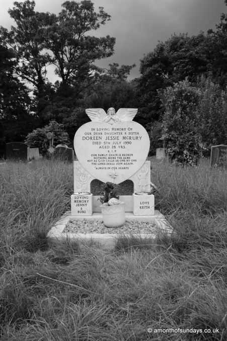 Gravestone at Hampstead Cemetery