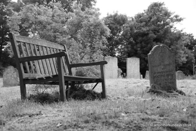 Bench at Hampstead Cemetery