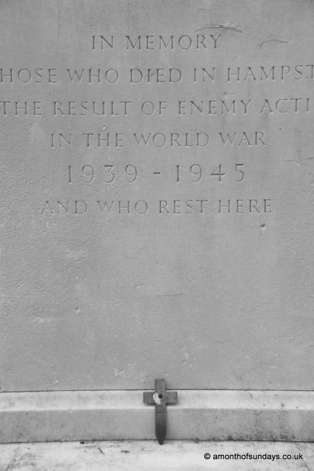 War memorial at Hampstead Cemetery