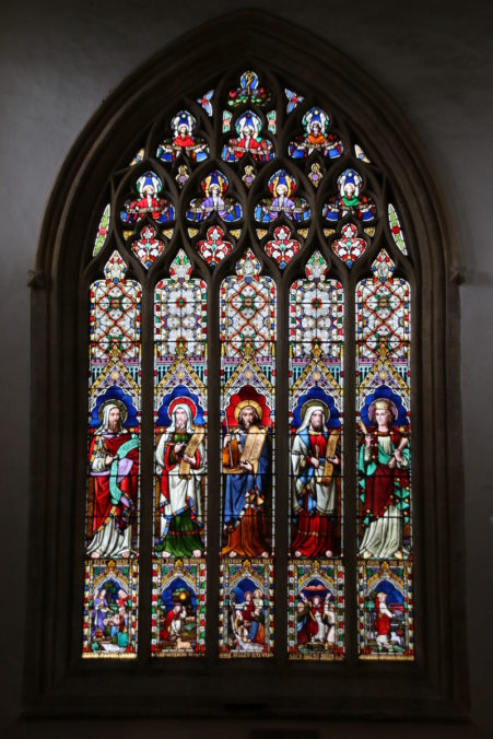 Stained glass window at St Edward's Church, Stow-on-the-Wold