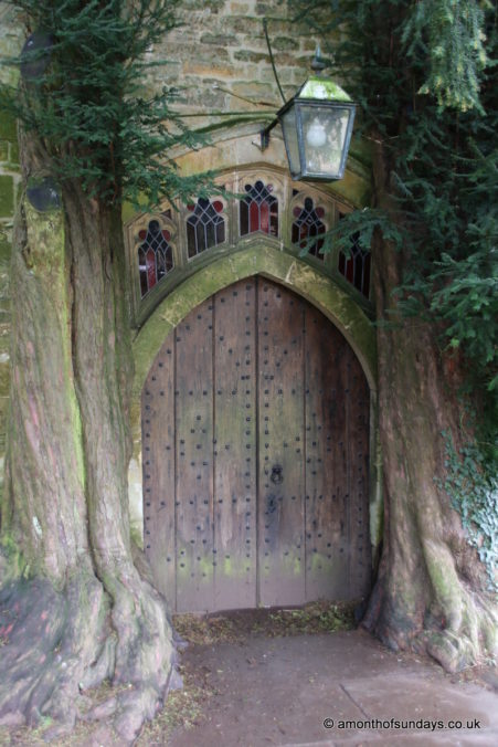 Tolkien's door at St Edward's Church, Stow-on-the-Wold