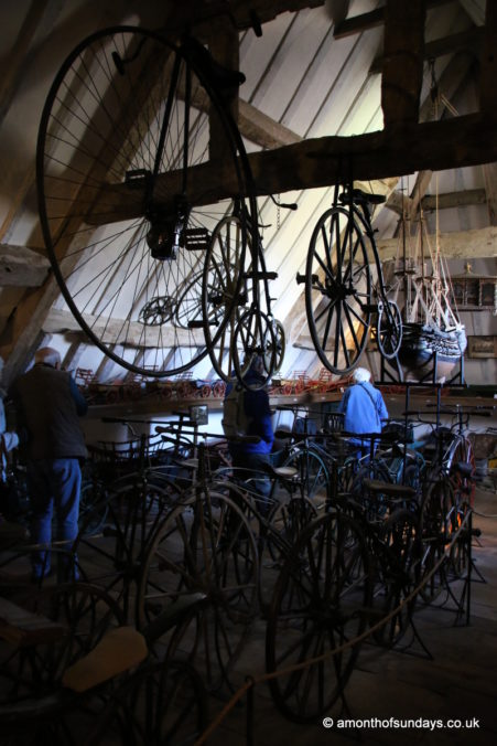 Bikes in the loft at Snowshill Manor and Garden