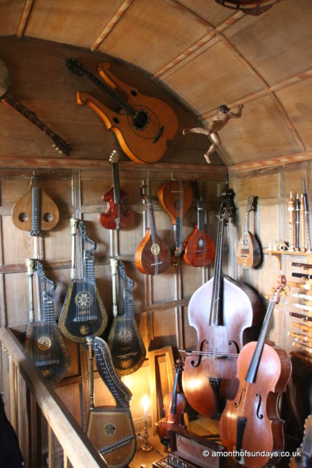 Musical instruments at Snowshill Manor and Garden
