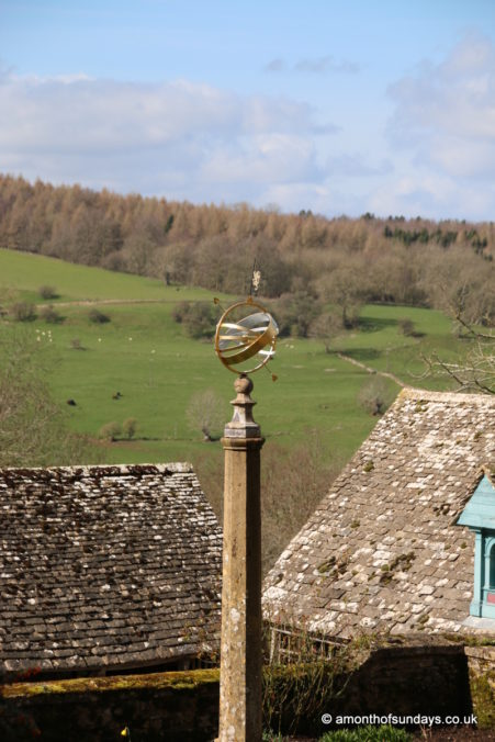 Looking over the yard at Snowshill Manor and Garden