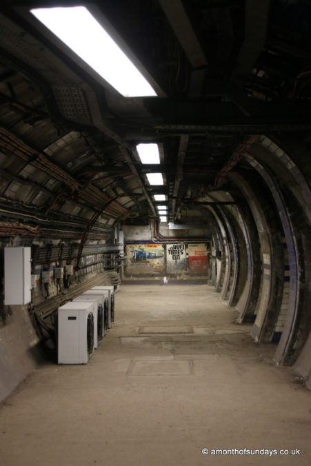 Empty tunnel on Euston: Lost Tunnels tour