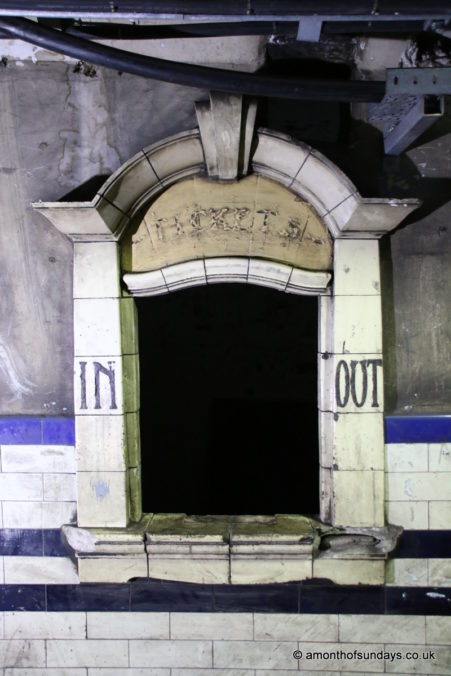 Ticket booth on Euston: Lost Tunnels tour