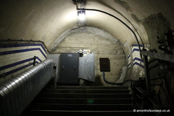 Blocked wall on Euston: Lost Tunnels tour
