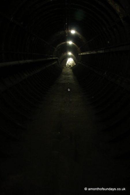 Dark tunnel on Euston: Lost Tunnels tour