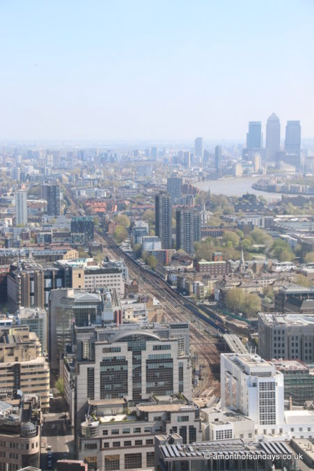 View down the railway from 20 Fenchurch Street (Sky Garden)