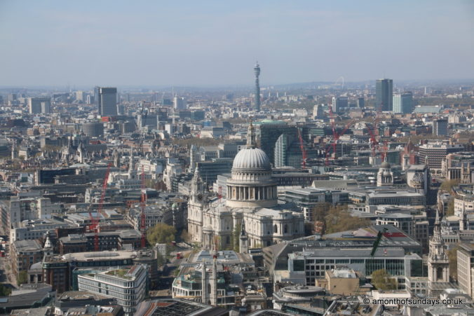 View over St Paul's from 20 Fenchurch Street (Sky Garden)